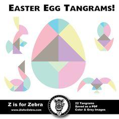 Imagination Station: Easter Egg Tangram Fun