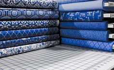 Spa by Deb Strain for @ModaFabrics in the shop. #blue #white #fabric #quilting #sewing #craft