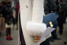 fur cuff, fashion, furs, fall coats, bag style