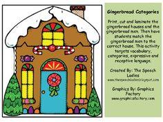 christma languag, speech, houses, slp, art idea