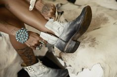 DIY old cowboy boots