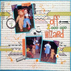 Off 2 see the wizard - Scrapbook.com  Great papers from the Too Cute to Spook Collection from Bella Blvd