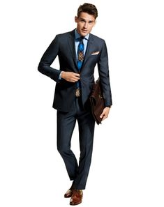 The Tie Adds Something Extra to This Suit & The Pocket Square.  tailor suit, gq guid, cloth, tailored suit, style, tie, dress, men fashion, suits