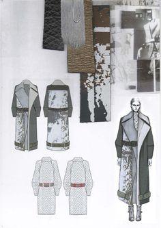 Fashion Sketchbook - fashion design drawings & textile swatches; graduate fashion portfolio // Amy Dee