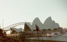 World Famous Sydney Opera House afront the Sydney Harbour Bridge ♥ Pinterest.com/Vacationing