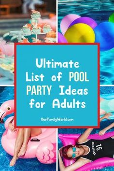 Get ready for some amazing pool party ideas for adults! We're sharing everything you need to pull off the best outdoor bash this summer! Check it out!