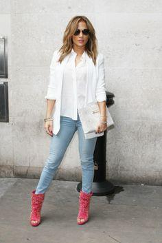 Jennifer Lopez spring street style