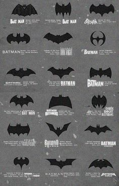 Evolution of a Symbol. #Bat #Man #Bats #Batman #Bruce #Wayne #Batcave #Gotham #Arkham #Joker #Dark #Knight