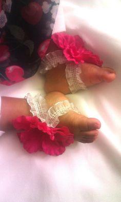 Baby Blooms Baby Footwear by JordansGallery on Etsy, $10.00