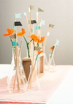 Test Tube & Beaker Centerpiece Great for a science graduate
