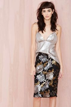 Metal Petal Skirt