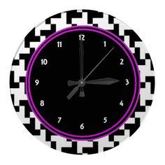 Pied de Poule Wall Clock by elenaind