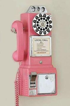 Pink Pay Phone = love