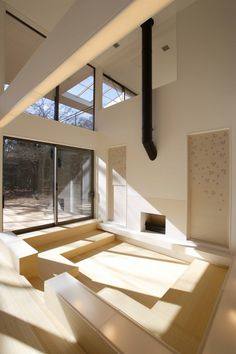 House of Maple by Edward Suzuki Associates - Why would I need a TV if I had a living room like this? #House