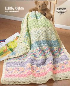 Lullaby Afghan. Pattern included in Crochet World 2012 Spring Issue: Scrap Afghans! 50 Nifty Projects to Crochet.