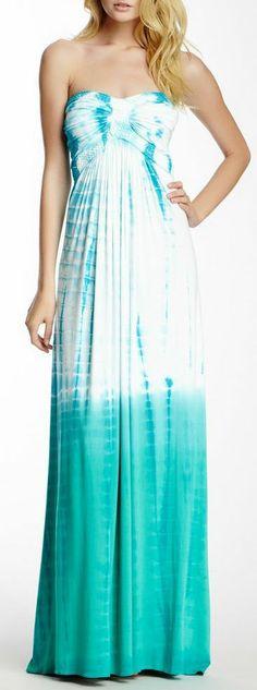 Ombre Tye-Dye Maxi Dress