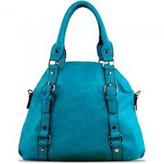 Susan Nichole Vegan Handbag Blossom in Turquoise