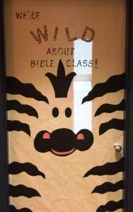 animal door zebra door, bulletin board, jungle bible school, door decorating, school doors, teacher, sunday school door, jungle animals door