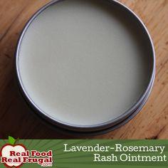 Homemade Lavender Rosemary Rash Ointment