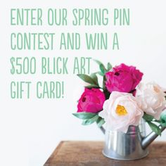 Less than a week left in our Spring Pin Contest! Enter now to win a $500 gift card to Blick Art. gift card
