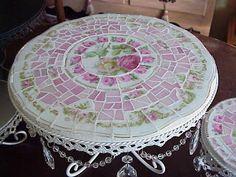 DIY:: Mosaic Cake Plate