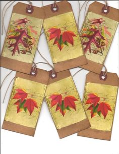 ~12~Fall TAGS~ Prim Autumn & Fall  ~  PRIMITIVE GRUNGY TAGS~Set 1