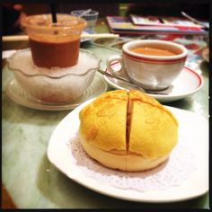 Hong Kong style milk tea and authentic pineapple bun!