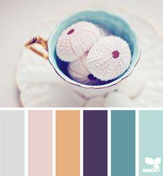 pastels, color palettes, urchin pastel, design seeds, bathroom colours, sea urchins, family picture colors, pastel colors