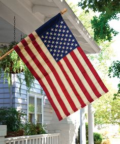 Tea-Stained American Flag
