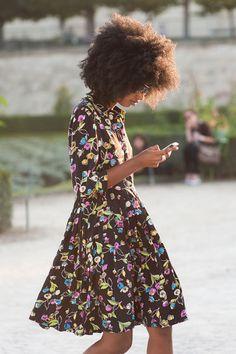 her hair, silhouette