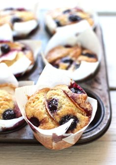 blueberry apple cupcakes | The Clever Carrot