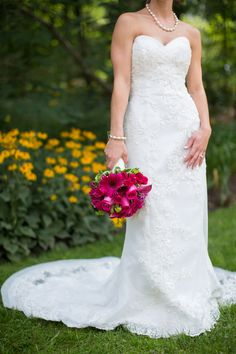Navy & Fuchsia Arboretum Wedding|Amy & Scott | Wedding Colors