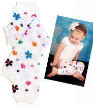 #84 Flower baby leg warmers for girl by My Little Legs