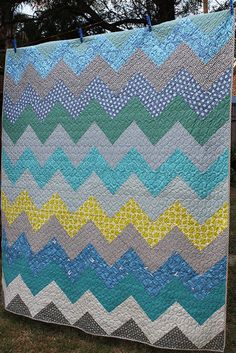 chevron quilt! maybe i can make it!