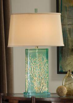 Aqua Sea Fan Design Lamp