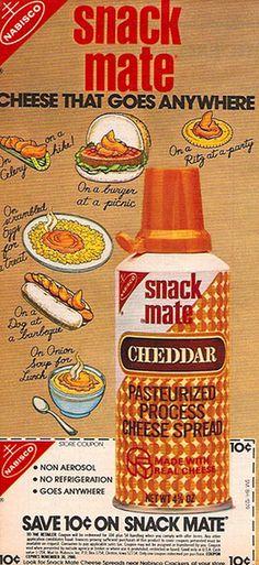 Nabisco Snack Mate aerosol cheese