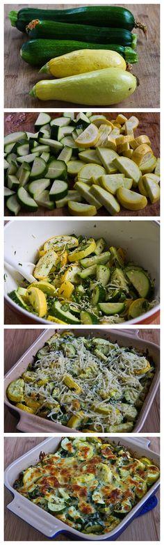 Recipe for Easy Cheesy Zucchini Bake - Best of Recipe