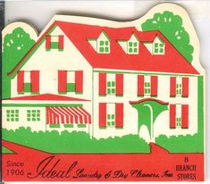 Needle book from Ideal Laundry ~ Collection of J. Megan Mays