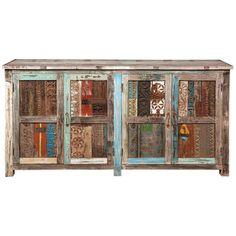Bono Carved Panel 4 Door Buffet