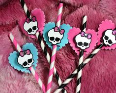Monster High Mini Party Decoration Paper Straws