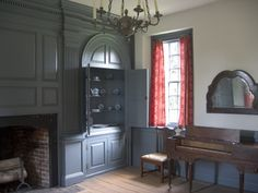 Interior of the 1751 Warren House of Smith's Fort Plantation in Surrey County, Virginia.