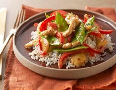 Diabetic Stir-Fried Chicken-This is a healthy Low Calorie, Low Sodium Diabetic recipe and also a Weight Watchers 8 PointsPlus+ recipe!