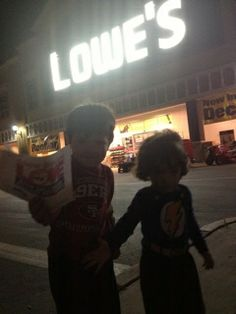 """Julian (4), Joseph (2), and their mom Rose Welch, delivered this valentine at the Lowe's in West Sacramento, California. In addition to the valentine, Julian delivered this message to the store manager, """"don't kill the bees!"""""""