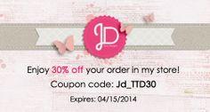 Exclusive coupon for 30% off Juno Designs digital scrapbook supplies