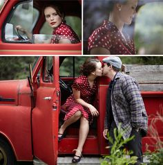 The Notebook engagement photos engagement pictures, engagement photos, the notebook, old trucks, dress, engagement photo shoots, engagement pics, engagement shoots, dot