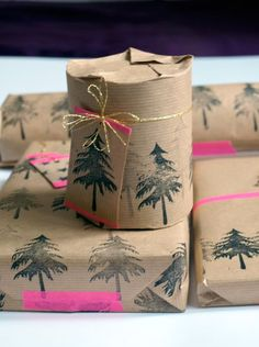 More easy gift wrapping ideas.