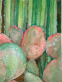 Cactus Garden Limited Edition Watercolor Art Print by CurioCabinet