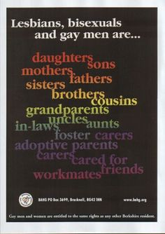 Gay Bisexuals and Lesbians are...