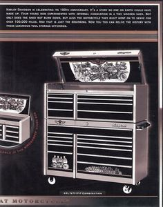 Harley Davidson 100th Anniversary Items | Harley Davidson 100th Anniversary Snap-on Tool Box New Auctions - Buy ...