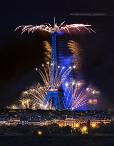 14 Juillet 2014 Feux d'artifice Paris Tour Eiffel - Antonio GAUDENCIO